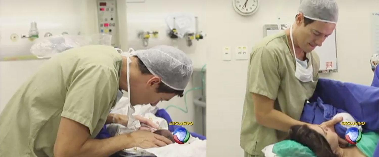 Publivideo registra nascimento de filha de Rodrigo Faro